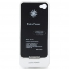 2350mAh Rechargeable External Battery Pack for iPhone 4 - White