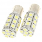 BA15S 5.4W 270-Lumen 6000K 27x5050 SMD LED White Car Light Bulbs (Pair/12V)