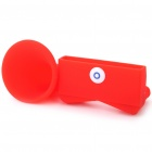 Horn Stand Amplifier Speaker for Apple iPhone 4 - Red