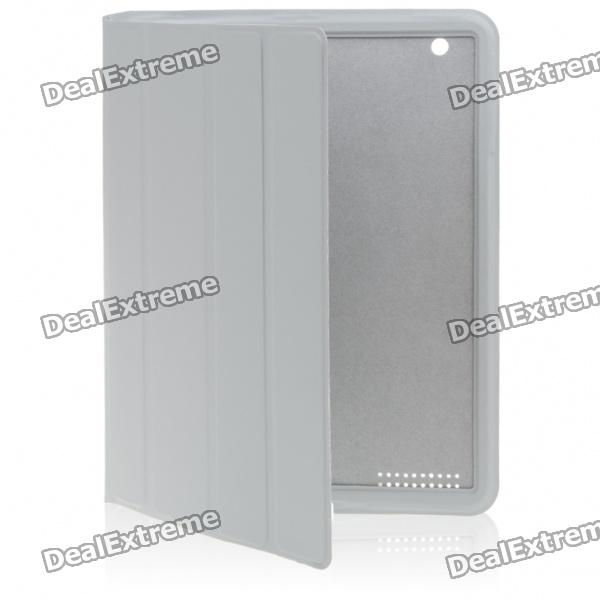 Ultrathin Protective Wake-Up/Sleep Smart Cover Case for iPad 2 - Gray