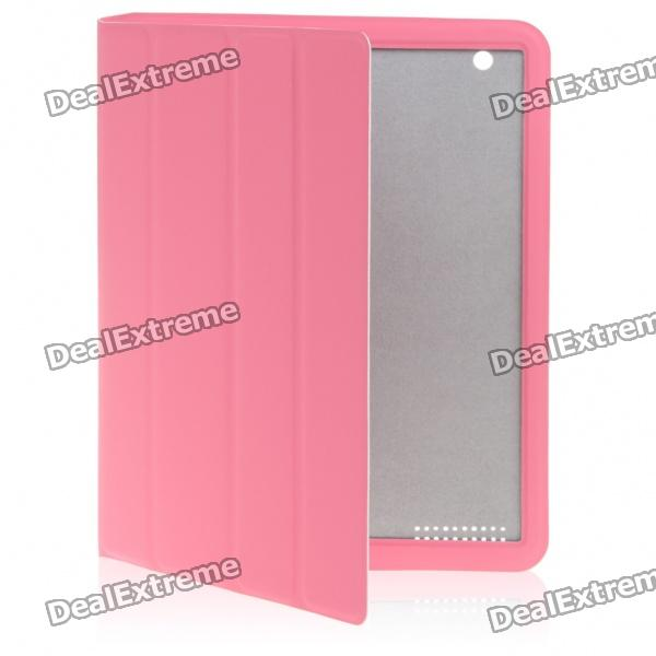 Ultrathin Protective Wake-Up/Sleep Smart Cover Case for iPad 2 - Pink