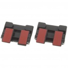 Universal Replacement Seat Belt Buckles - Black (Pair)