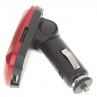 "1.0"" LCD Car MP3 Player FM Transmitter with Remote Controller - Red (SD/TF/USB)"