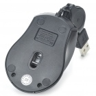 USB 800DPI Optical Mouse with Retractable Cable (68CM-Full Length)
