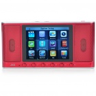 "JXD M300 2.8"" TFT LCD Magic Box Speaker Multi-Media Player w/ 1.3MP Camera/FM/AV/TF Slot - Red (4GB)"