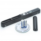 "0.8"" LCD Cordless Handheld A4 Handy Scanner with USB + TF Card Slot - Black (2 x AA)"