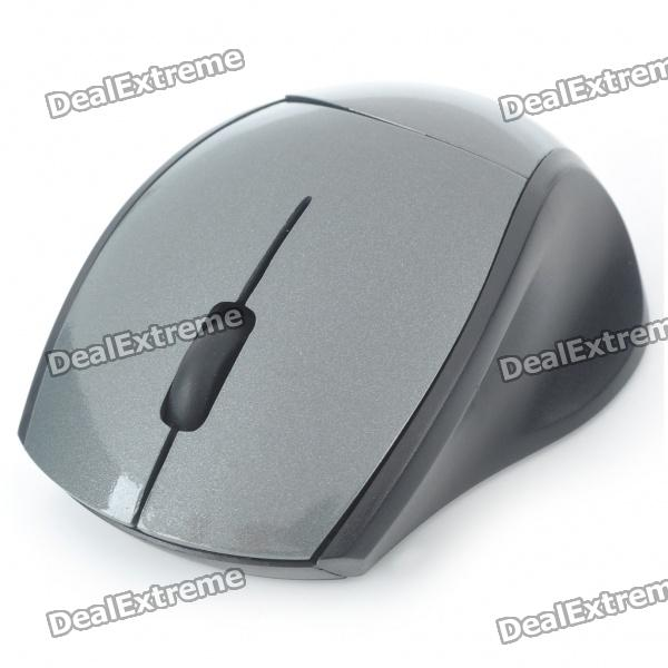 2.4GHz Wireless 800DPI USB Optical Mouse w/ Receiver - Grey + Black (1 x AAA)