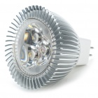 MR16 3500K 3W 270-Lumen 3-LED Warm White Light Blub (12V)