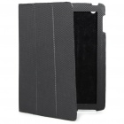 Ultrathin Protective Woven Pattern Carbon Fiber Leather Case for   Ipad 2 - Black