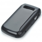 Protective PC + PVC Back Case for BlackBerry 9700 - Black