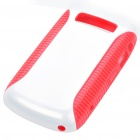 Protective PC + PVC Back Case for BlackBerry 9700 - Red + White