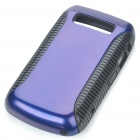 Protective PC + PVC Back Case for BlackBerry 9700 - Black + Purple