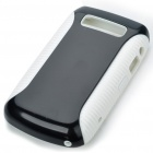Protective PC + PVC Back Case for BlackBerry 9700 - Black + White