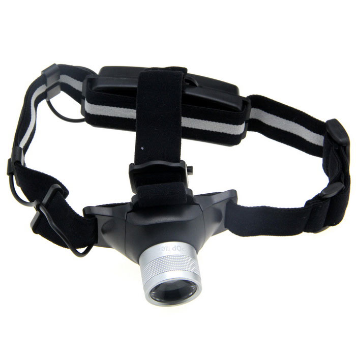 H6 Rechargeable Focus-Adjustable and Dimming White LED Headlamp w/ Cree Q5 / Charger