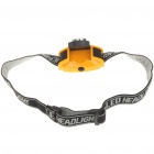 0.5W 4-Mode 9-LED Head Lamp Light - Yellow + Black (3 x AAA)
