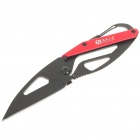 Cool Stainless Steel + Aluminum Folding Knife with Keychain - Color Assorted