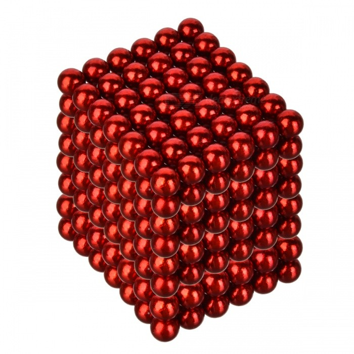 4.8~5mm Neodymium NIB Magnet Spheres with Steel Case - Red (216-Piece Pack)Magnets Gadgets<br>Packing List<br>