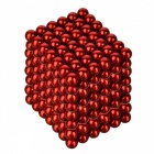 4.8~5mm Neodymium NIB Magnet Spheres with Steel Case - Red (216-Piece Pack)