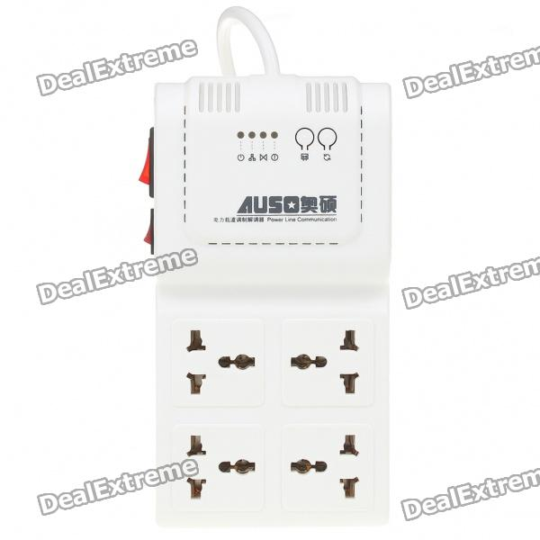AUSO 200Mbps Powerline Ethernet adaptador (110V-240V AC)