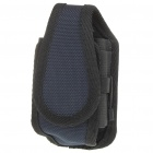 Protective Nylon Holster/Pouch with Clip for Cell Phone - Blue + Black (Size L)