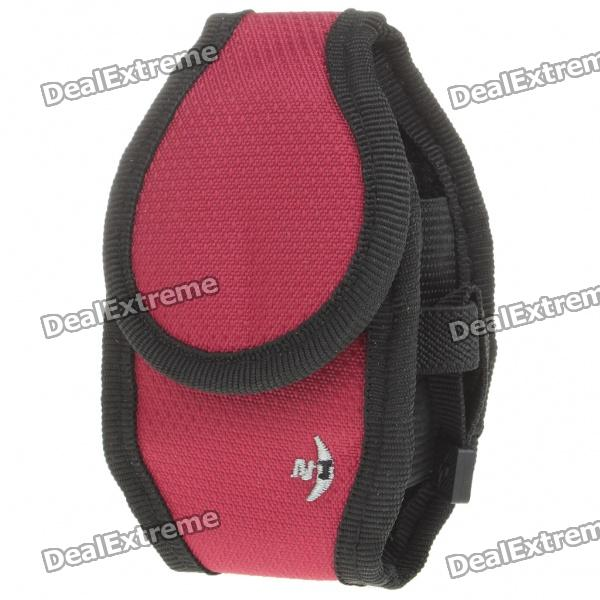 Protective Nylon Holster/Pouch with Clip for Cell Phone - Red + Black (Size S) nylon resin clip holster for g17 g18 pebble grey