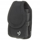 Protective Nylon Holster/Pouch with Clip for Cell Phone - Black (Size S)