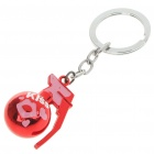 Unique Stainless Steel CF Grenade Style Keychain - Red