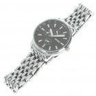 Waterproof Stainless Steel Wrist Watch - Black + Silver (30mm Diameter/ 1 x LR626)