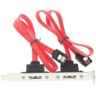 2-Port Serial ATA SATA to eSATA External Host Bracket for PC