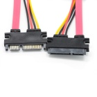SATA Male to Female M/F 7+15 Pin Serial ATA Data Cable - Red + Black + Yellow (47CM-Length)