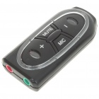 Virtual 7.1 Channel 3D USB External Sound Card Adapter with USB Data Cable - Black
