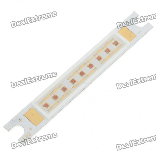 10W 150-Lumen 625nm Red Light LED Metal Bar Module (6~8V)