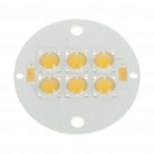 6W 3500K 400LM Warm White 6-LED Emitter Metal Plate (9~11V)