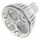 MR16 3W 3500K 260-Lumen 3-LED Warm White Light Bulb (12V)