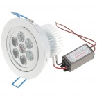 7W 3500K 750-Lumen Warm White LED Ceiling Lamp/Down Light with LED Driver (AC 85~245V)