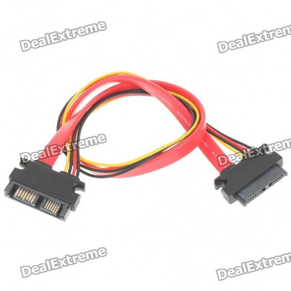 SATA 7+6 Pin Male to Female Cable (31cm Length)