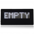 AW Mini Programmable Scrolling LED Name/Message/Advertising Tag Badge - White Light (1 x CR2032)