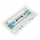 Unique Cassette Style Protective Back Case Skin Sticker for Iphone 4 - White