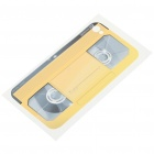 Unique Videotape Style Protective Back Case Skin Sticker for Iphone 4 - Yellow
