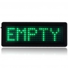 TSPG Mini Programmable Scrolling LED Name/Message/Advertising Tag Badge - Green Light (1 x CR2032)