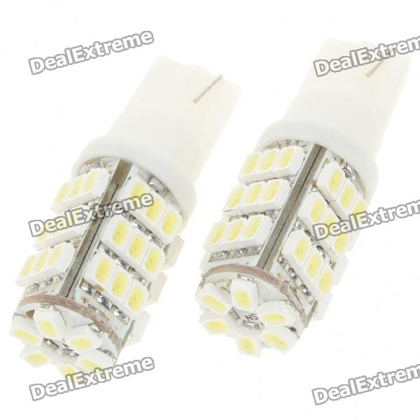 T10 3W 6000K 264-Lumen 42x3020 SMD LED Car White Light Bulbs (Pair/DC 12V)