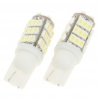 T10 3W 6000K 264-Lumen 42x3020 SMD LED Car ampoules blanches (paire / DC 12V)