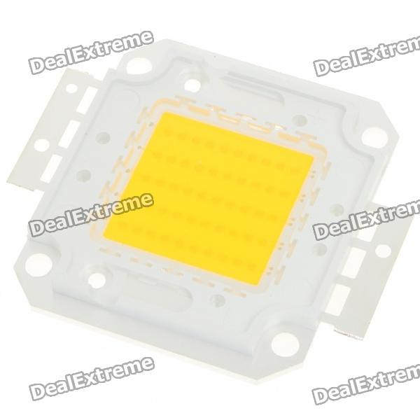 50W 3000LM 3500K Warm módulo de placas de metal blanco del LED (35V)