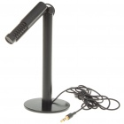 Universal Straight Microphone for Laptop/PC - Black (3.5mm Jack/140CM-Length)