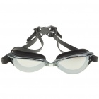 Stylish PC Lens Swimming Goggle Glasses w/ Carrying Box - Black