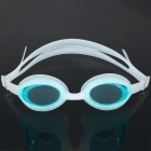 Stylish PC Lens Swimming Goggle Glasses w/ Carrying Box - White