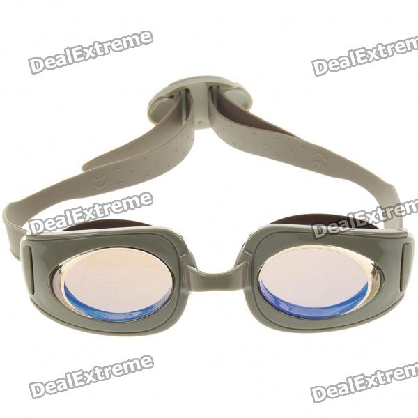Stylish PC Lens Swimming Goggle Glasses w/ Carrying Box - Army Green