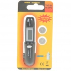 "0.6"" LCD Portable Digital Non-Contact Infrared Thermometer w/ Strap - Black (-50'~220'C Range)"