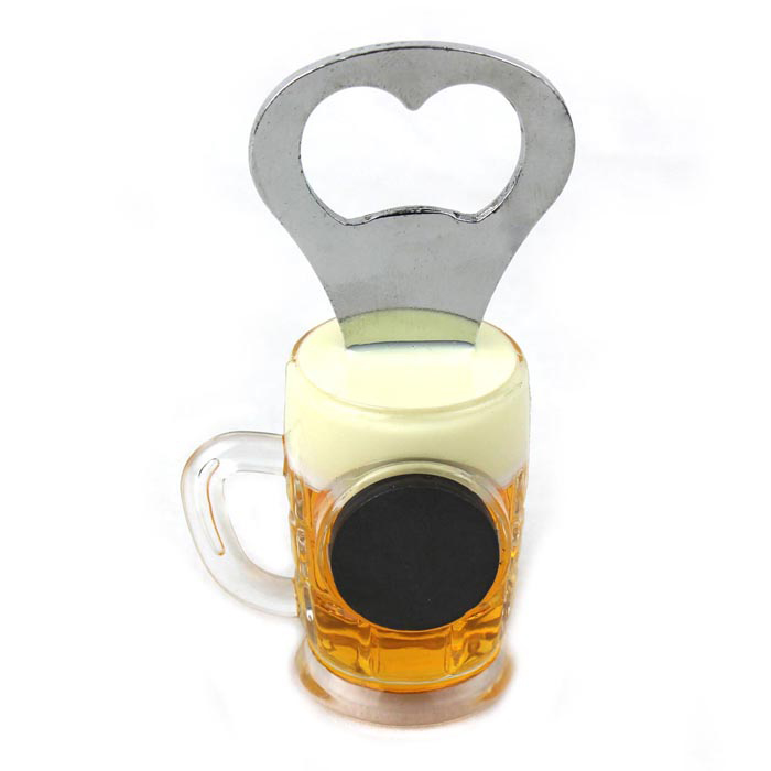 Unique Beer Cup Style Bottle Opener W Magnet Free