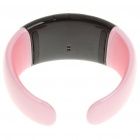 Stylish Bluetooth V2.1 Bracelet w/ Vibration Function + Digital Time - Pink